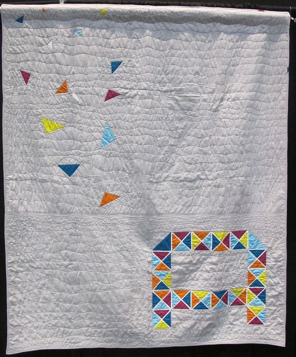 QuiltCon charity quilt by The Lake Superior Modern Quilt Guild