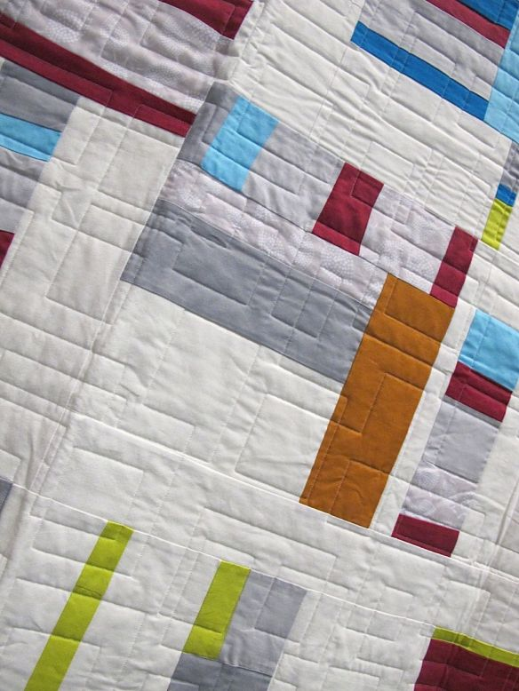 QuiltCon charity quilt by the South Bay Area Modern Quilt Guild in California.