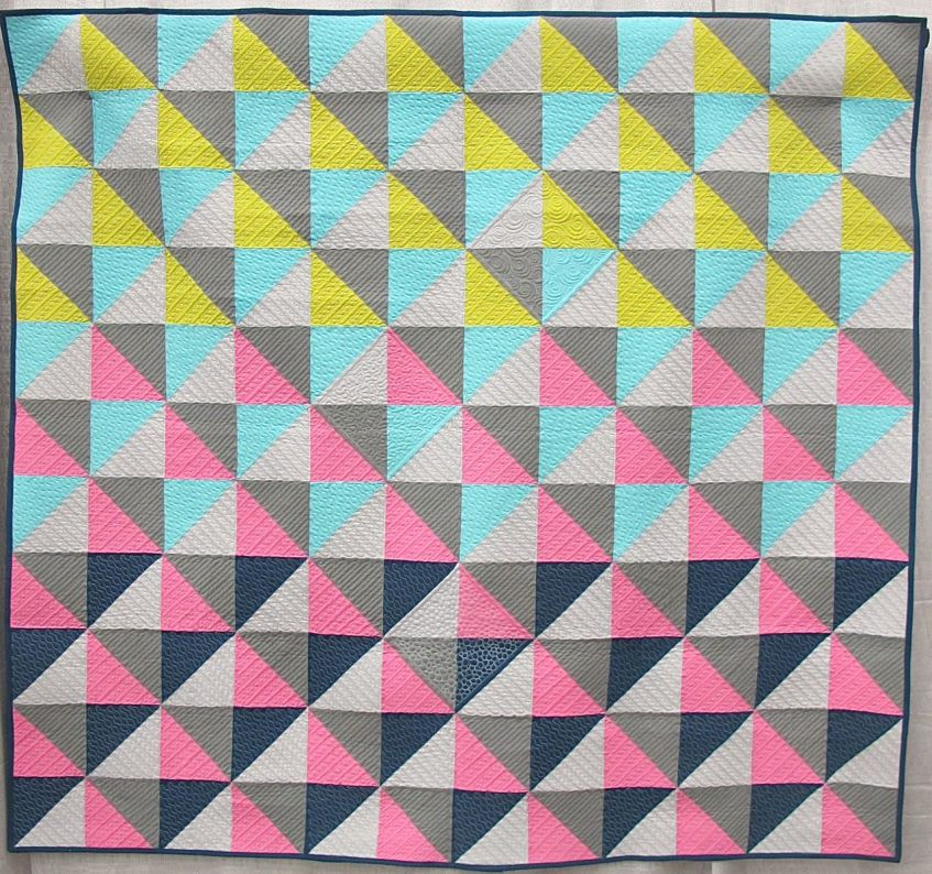 Color in Flight by Cynthia Whitten. Ladera Ranch, California. Quilted by Helen Baczynski.