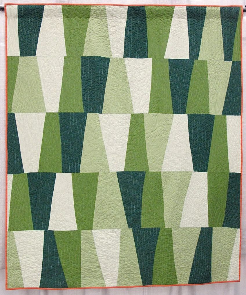 North Alabama Hillsides by Cathy Fussel. Columbus, Georgia. 2nd Place, Handwork Category, QuiltCon 2015