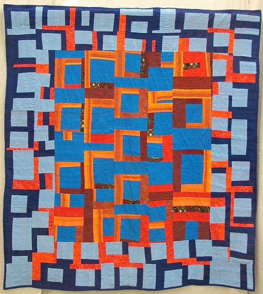 Syncopation Quilt by Jean Cockburn. Denman Island, British Columbia, Canada.