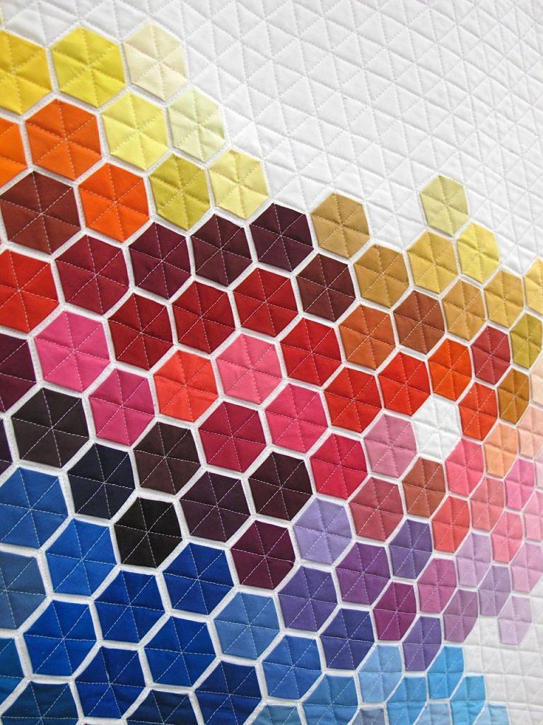 Geometric Rainbow by Nicole Daksiewicz. Chicago, Illinois.