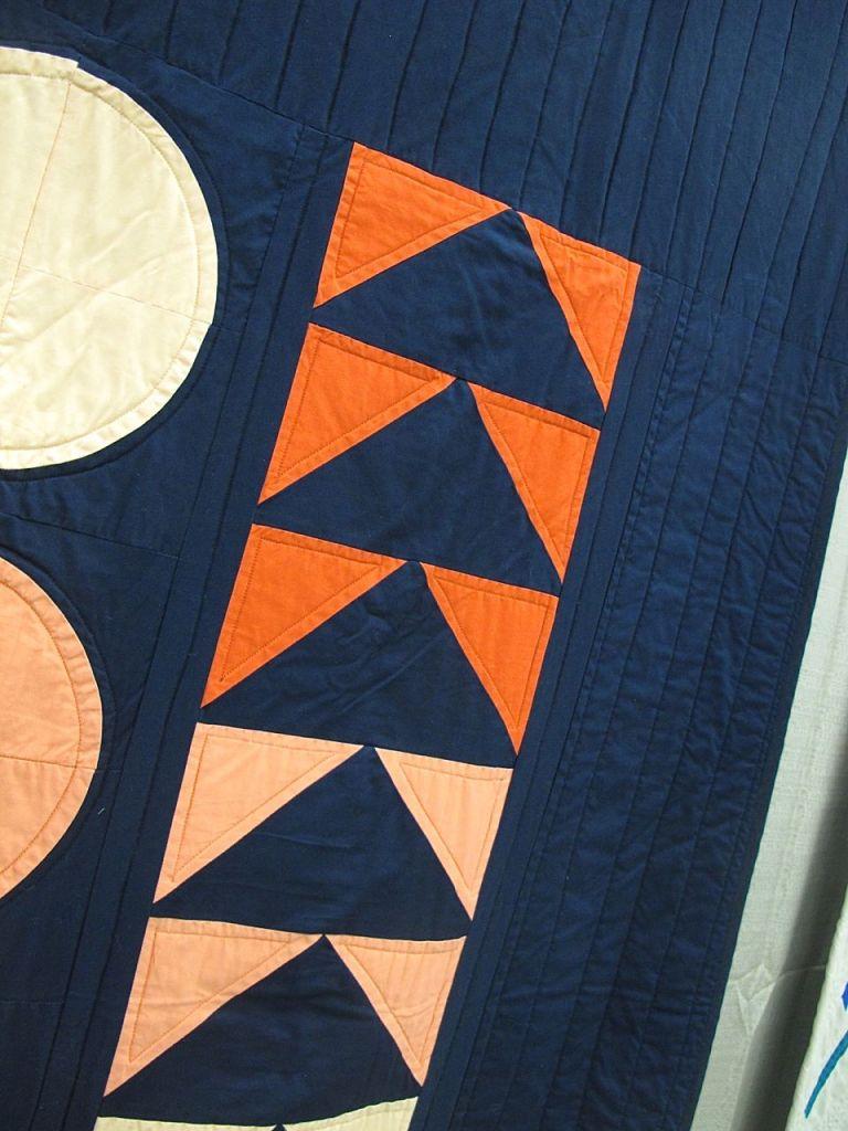 Wooden Block Quilt by Sarah Laws. Portland, Oregon.