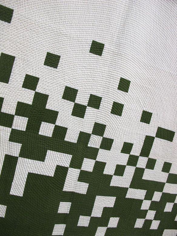 Pixel Pusher II by Caro Sheridan. Everett, Massachusetts, 3rd Place Minimalist Design. QuiltCon 2015.