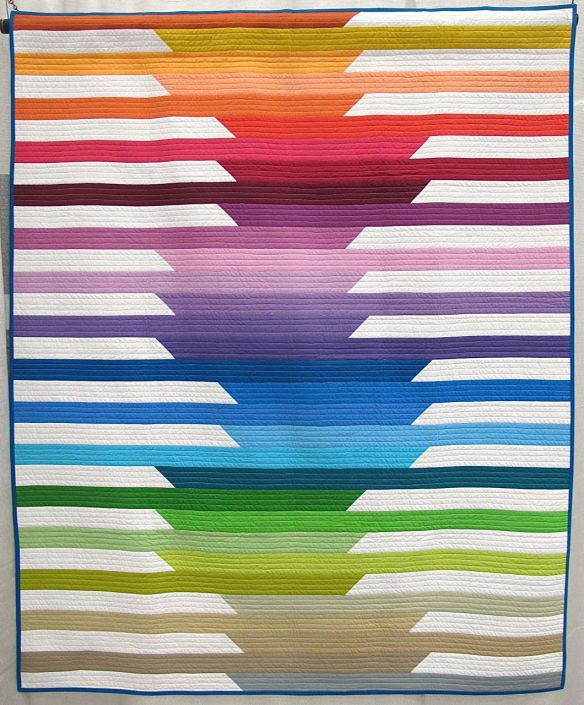 Cascade Quilt by Kristi Schroeder. Dallas, Texas.