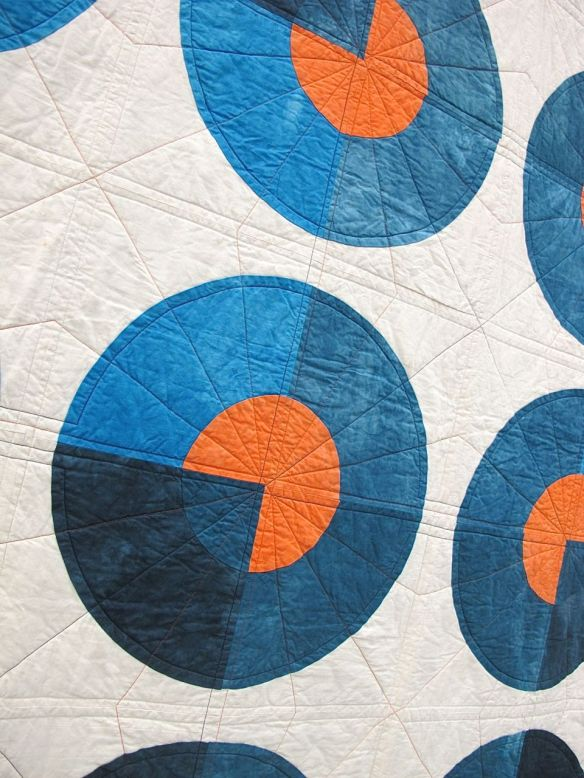 Blue Circle Quilt by Kim Eichler-Messmer. Kansas City, Kansas.