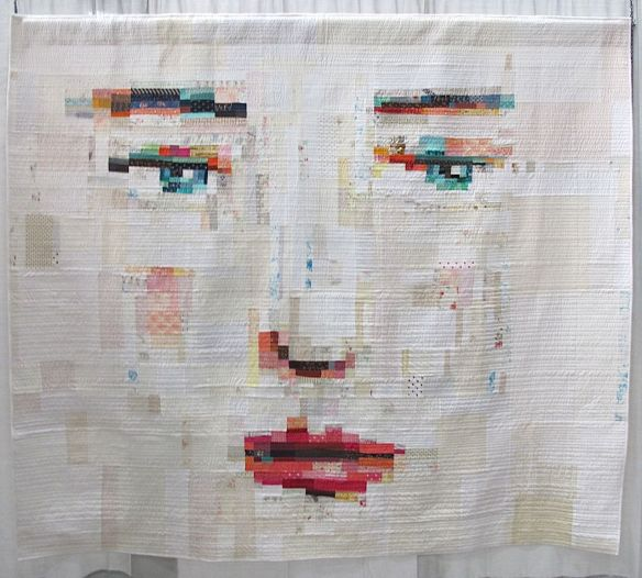 Face #1 by Melissa Averinos. West Barnstable, MA. Judge's Choice, QuiltCon 2015.