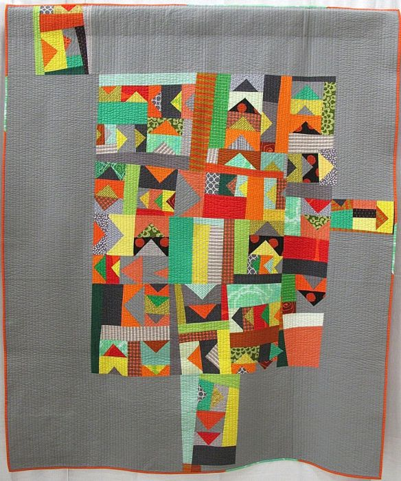 This Way by Tricia Royal. Chicago, IL. 3rd Place, Improvisation category, QuiltCon 2015