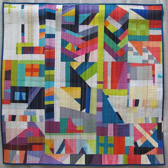 The Rabbit Hole by Nydia Kehnle. Monroe, NY. 1st Place Improvisation Category, QuiltCon 2015