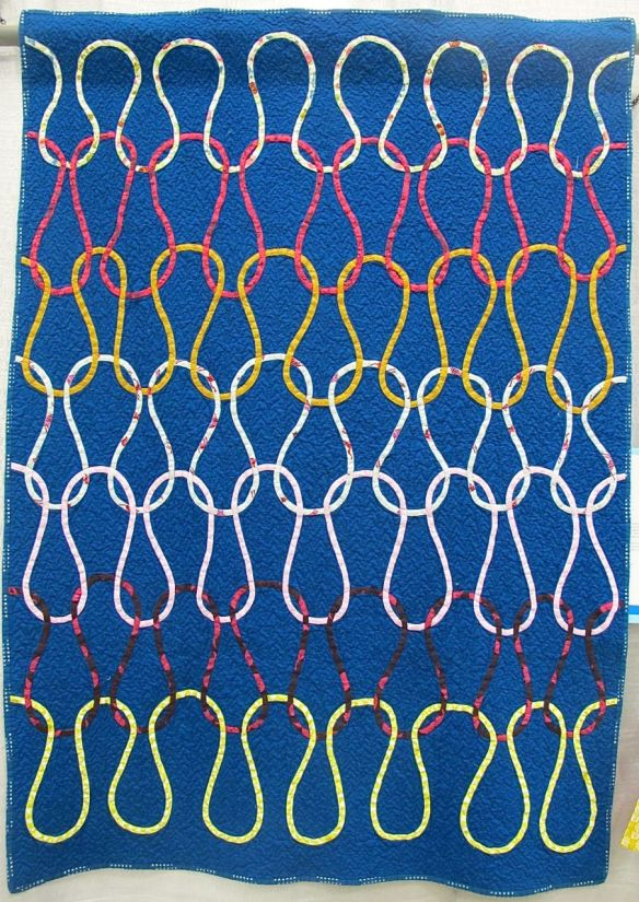 Knit Stitch by Dorie Schwartz. Mason, Michigan. 3rd Place, Bias Tape Applique, QuiltCon 2015.