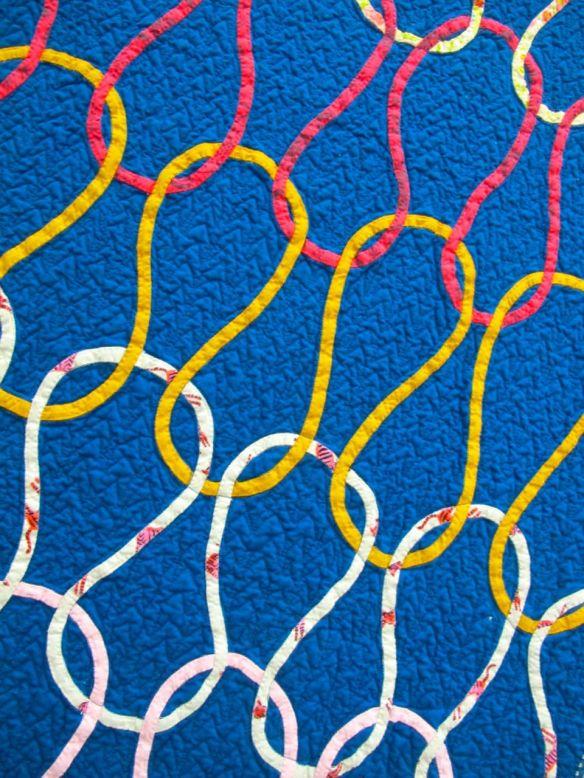 Knit Stitch by Dorie Schwartz. Mason, Michigan. 3rd Place, Bias Tape Applique, QuiltCon 2015.