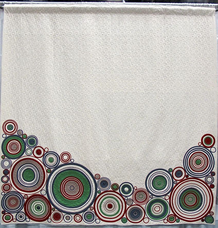 Stock on Hand, Katherine Jones. Chigwell, Tasmania, Australia. 2nd place, Bias Tape Challenge, QuiltCon 2015.