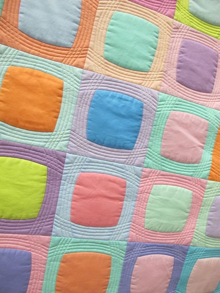 After Dinner Mints. Paige Alexander. Picken, South Carolina. 2nd Place, Michael Miller Fabric Challenge, QuiltCon 2015.