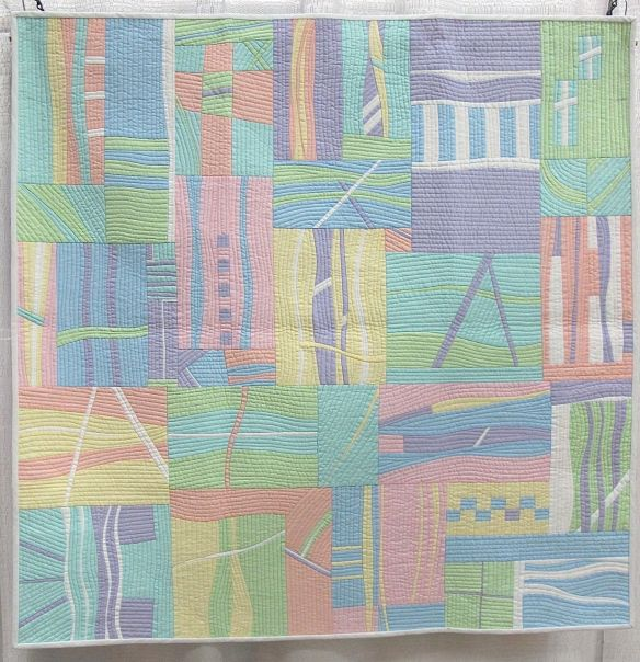 Passages by Patty Simmons. Lee's Summit, Missouri. 3rd Place, Michael Miller fabric challenge. QuiltCon 2015.