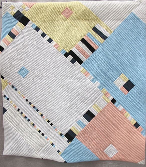 Mondrian with Munsell'd Values by katrine Eagling. Bellevue, Washington. Quilted by Nancy Winnick Cluts.