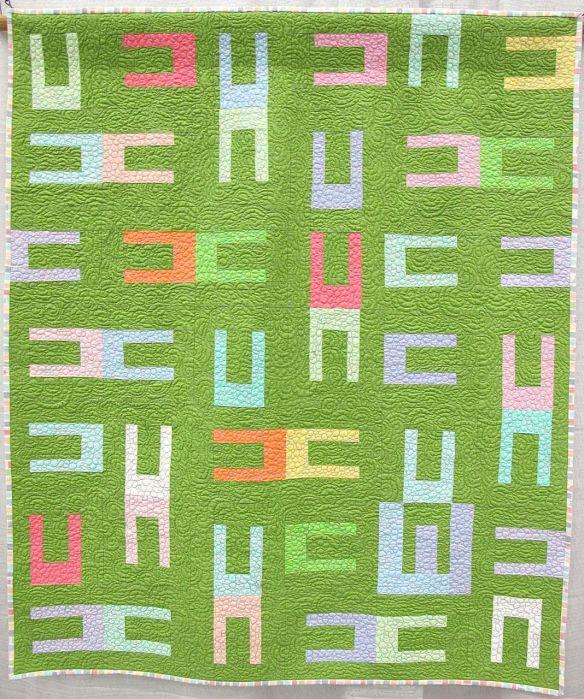 E Quilt by Cynthia Ann Morgan. Boulder, Colorado.