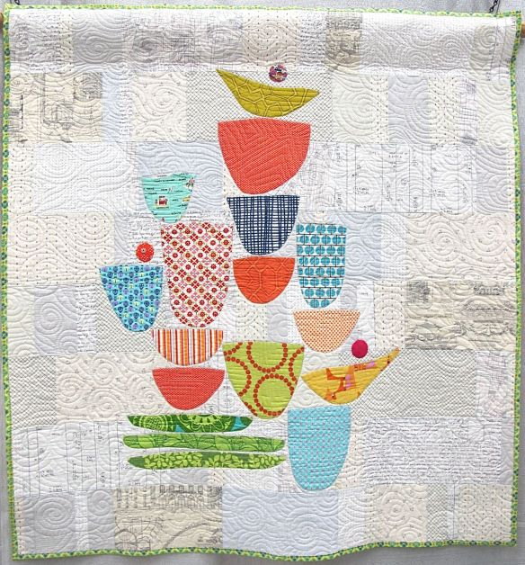 The Dishes Can Wait by Rachel Kerley. Hillsboro, Oregon. 2nd Place, Applique Category, QuiltCon 2015.