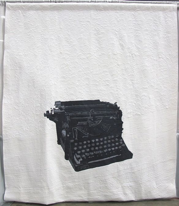 Typewriter No. 5 by Jessica Toye. Kansas City, Missouri. 3rd Place, Applique Category, QuiltCon 2015.