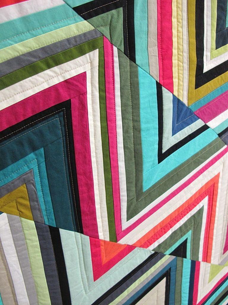 Triangles Quilt by Tara Faughnan, Oakland, California.