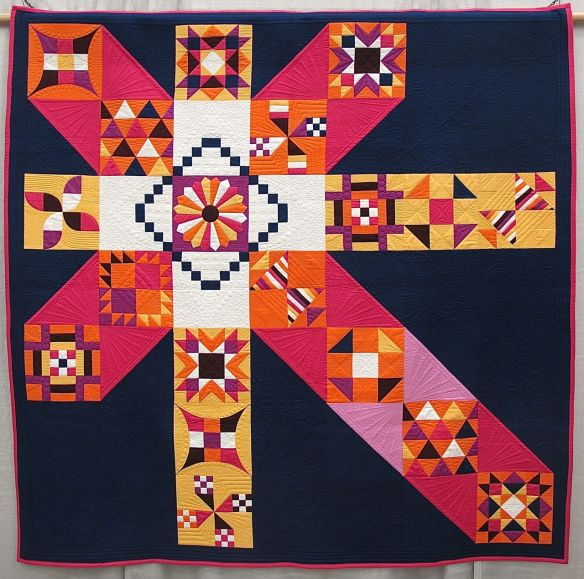 Moccasin by Anne Marie Chany. Plain City, Ohio. Quilted by Mindy Powell.
