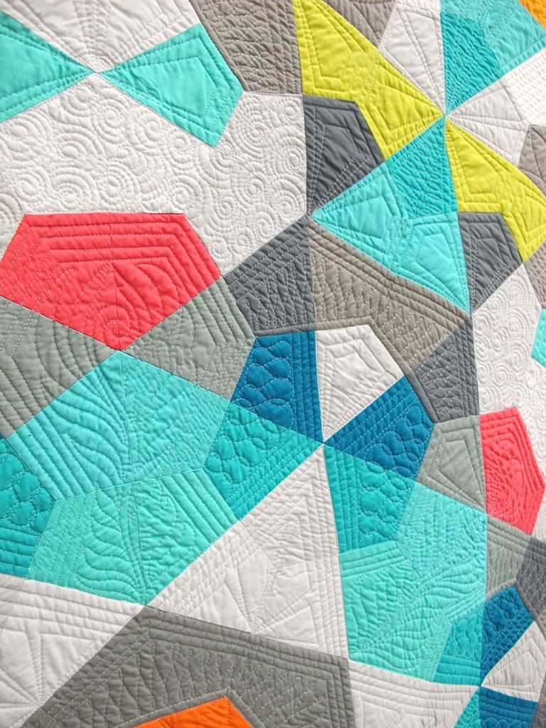 Bauble by Emily Cier. Seattle, Washington. Quilted by Angela Walters.