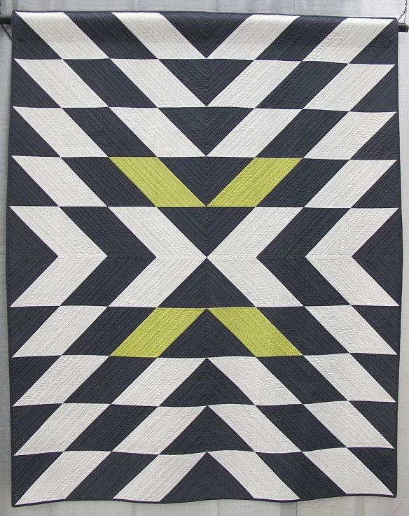 MQG 2014 Quilt of the Month: March. Modern X by Christa Watson.