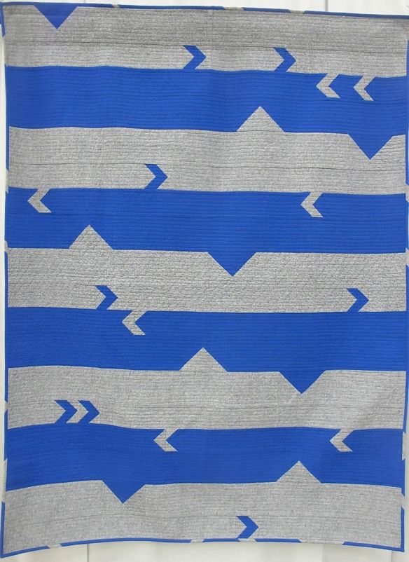 MQG 2014 Quilt of the Month: January. Broken Bars by Rebecca Roach. Austin MQG.