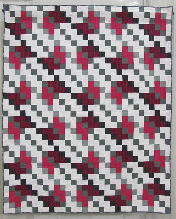 MQG 2014 Quilt of the Month: October. Shifted by Kristy Daum. St. Louis MQG.