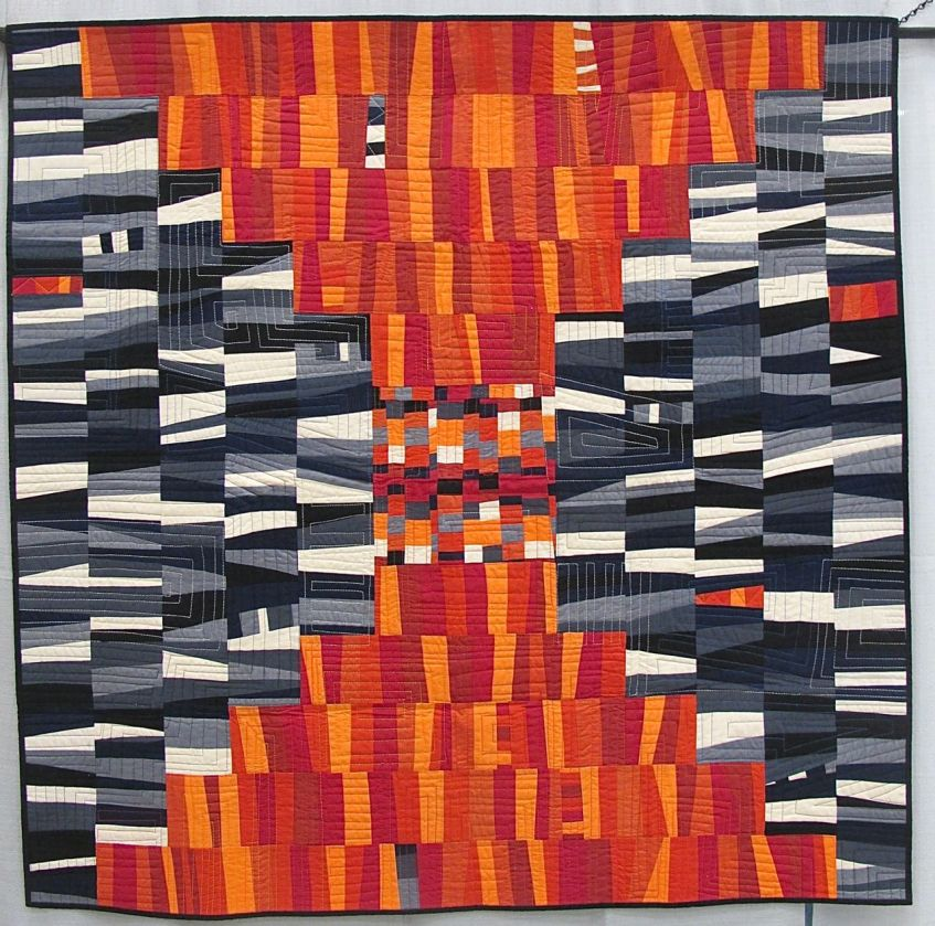 MQG 2014 Quilt of the Month: September. Chess on the Steps by Krista Hennebury. Vancouver MQG.