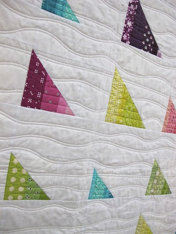 MQG 2014 Quilt of the Month: July. Boats Boats Boats! by Brenda Ratliff. Ann Arbor MQG.