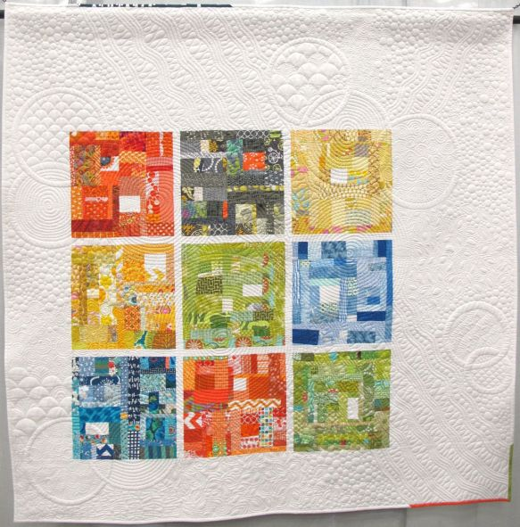 Ad Libbing by Linda Hungerford of Flourishing Palms. The Villages, Florida. Pieced by Lora Douglas of Dragonfly Quiltworks