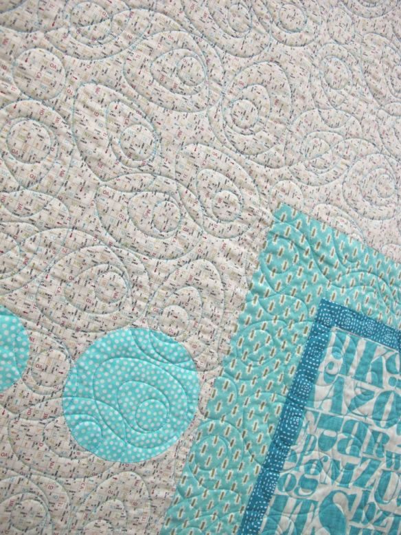 Geo Applique Series #2 by Kayley Rose. Quilted by Kathy Tamosaitis/ Brandywine Quilting.