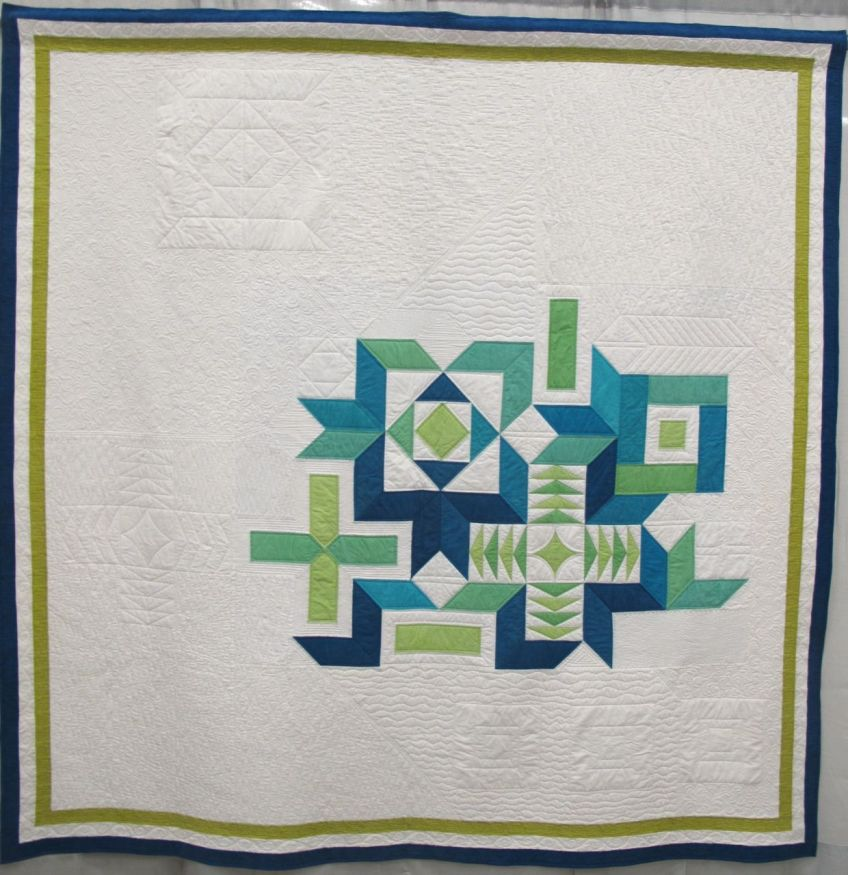 Lovely Fishbourne by Amanda Leins. Gansevoort, New York. Quilted by Liz Haskell.