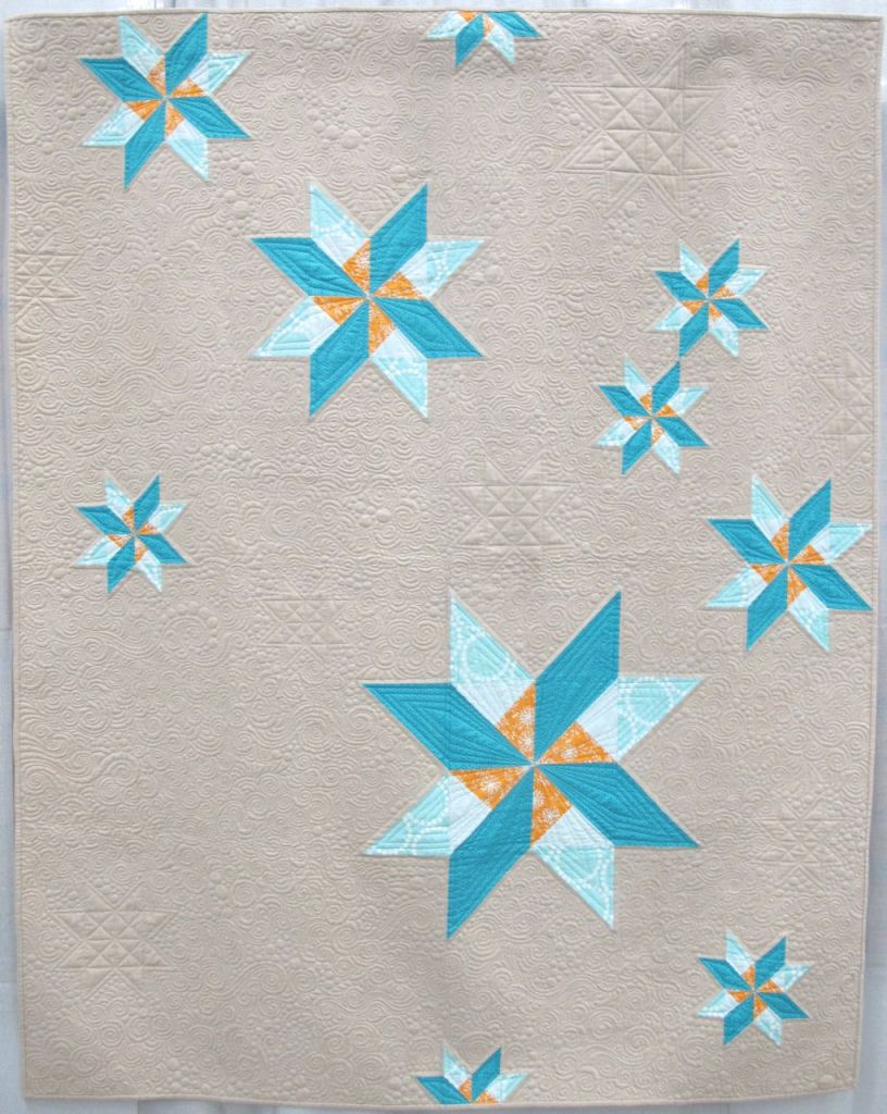 Sugar Snow by Lee Heinrich. Mequon, Wisconsin. Quilted by Krista Withers.