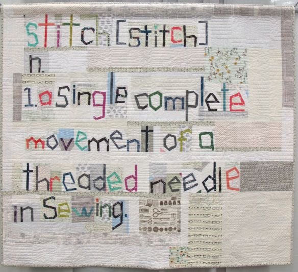 The Definition of Stitch by Sarah Fielke. Chatsworth, New South Wales, Australia. Quilted by Kim Bradley.