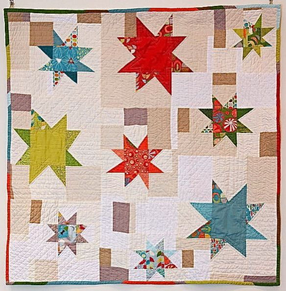 Justine's Starbright Quilt by Adrienne St. John