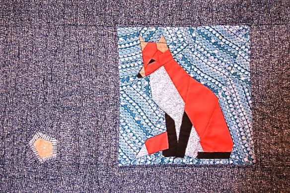 Starry Fox by Birgit Hottentrott, quilted by Terri Carpenter