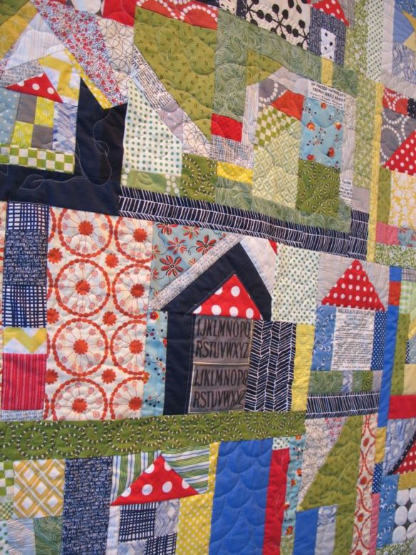 The Neighborhood by Terri Carpenter with Calerie Gibbons, Chancy Fessler, Anna Carloni. Quilted by Terri Carpenter.