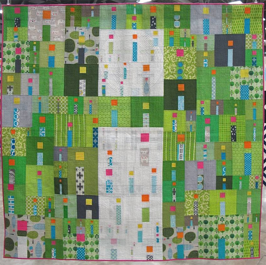 i Quilt by Kathy York, Austin, Texas,. Best in Show, QuiltCon 2015. Award sponsored by Gammill.