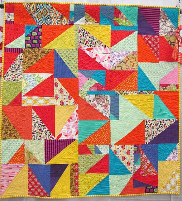 Rainbow Magic by Mollie McMahon. Sutton, New South Wales, Australia. Quilted by Mollie and Mumma (Jules McMahon) 1st Place Youth Quilts, QuiltCon 2015