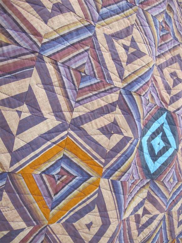 """Grapeshot by Maggie Johnson. Tulsa, Oklahoma. Quilted by Ann Olson. Inspired by Kaffe Fassett's """"Cutting Corners Quilt"""""""