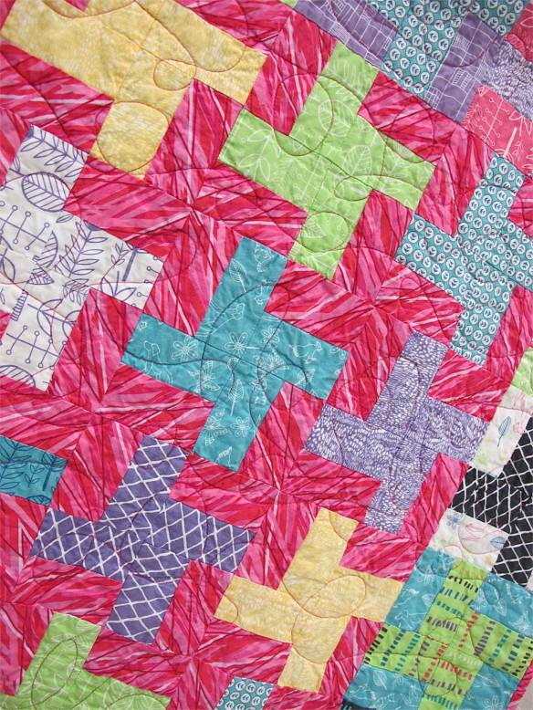 "Pinwheels by Kate Ivie. Austin. Texas. Pattern, ""Mardi Gras"" from Villa Rosa Designs. Started ar age 9. Quilted on a long arm at The Cotton Cupboard in Lakeway, Texas."