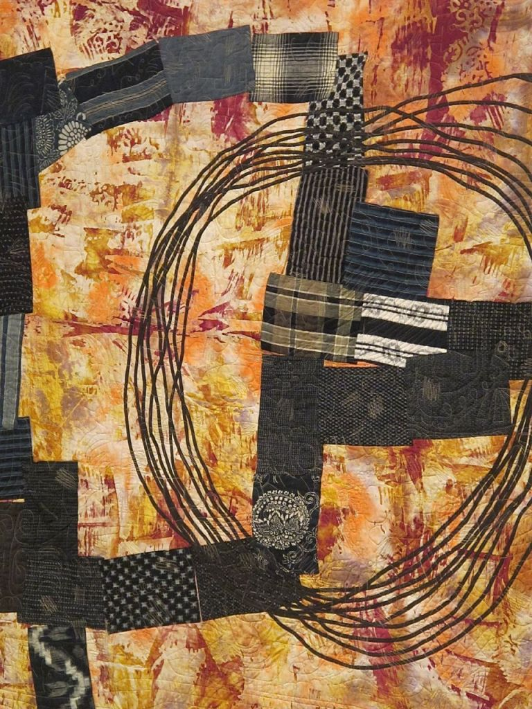 detail of Patchwork Quilt by Joe Cunningham, 74x47, 2012