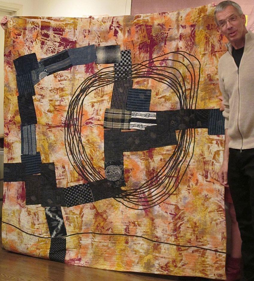 Patchwork Quilt by Joe Cunningham, 74x47, 2012