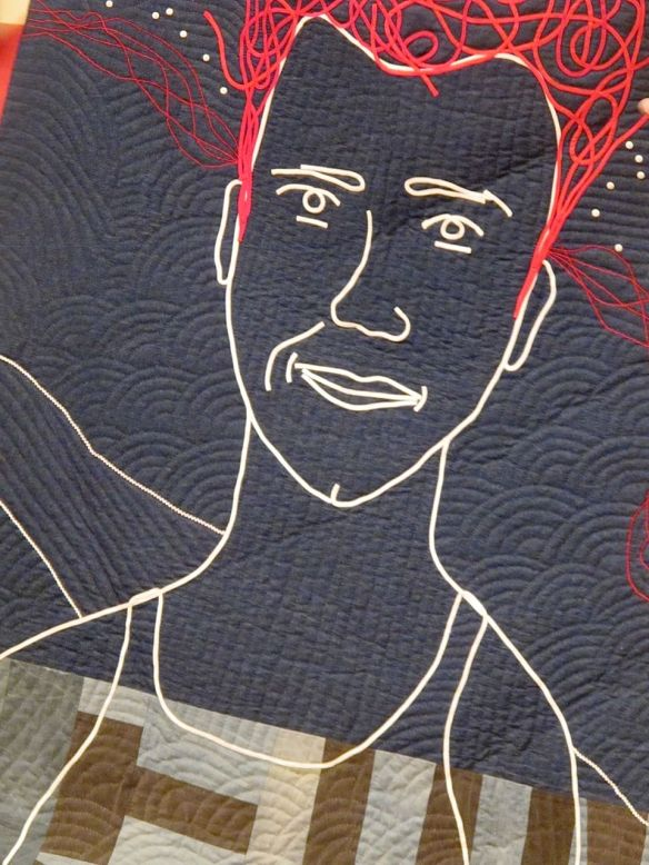 detail of Luke Haynes in his American Context by Joe Cunningham, 74x74, 2012
