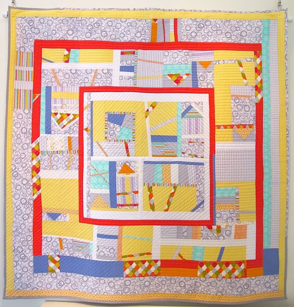 Sherbert Sunrise by Valerie Gibbins with Chancy Fessler, Terri carpenter, Anna Carlini. Quilted by Terri Carpenter