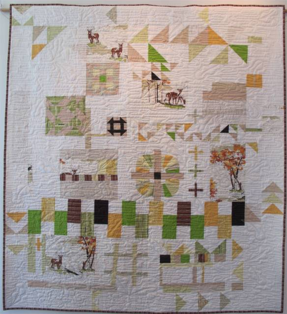 Paint by Improv by Chancy Fessler with Terri Carpenter, Anna Carloni, Valerie Gibbins. Quilted by Chancy Fessler.