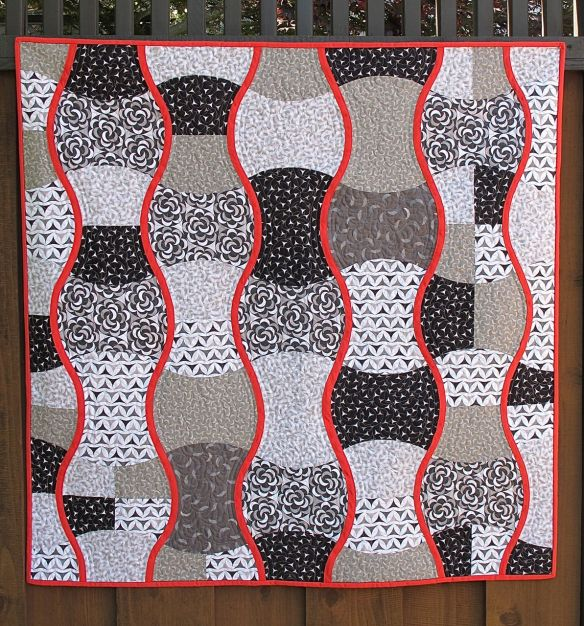 Ripple Strudel by Karen Foster, the Capitola Quilter