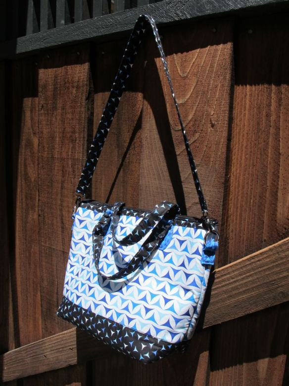 Dear Watson Bag, pattern by Sew Scatterbrained, sewn by Fat Chick Quilts using Luna Lounge