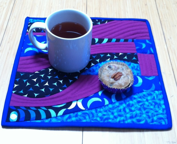 Square placemat by Claire Sherman. Original design.